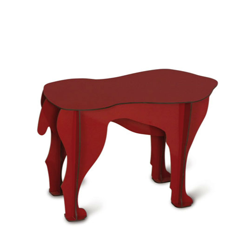 table basse tabouret sultan rouge ibride mobilier de. Black Bedroom Furniture Sets. Home Design Ideas