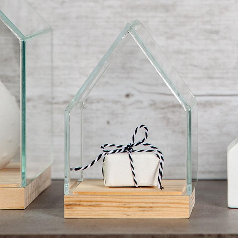 petite maison d co bois et verre r der achat vente. Black Bedroom Furniture Sets. Home Design Ideas