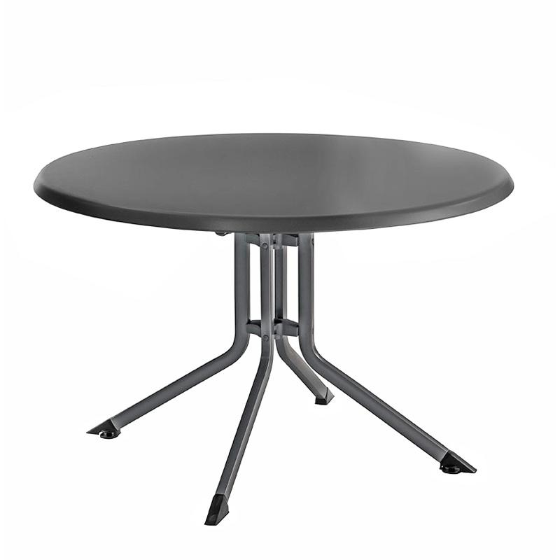 Table PLIANTE Aluminium Résine Ronde KETTLER 115 cm ...