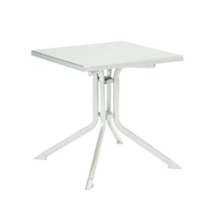 Table PLIANTE Aluminium Résine Carré KETTLER 70 x 70 cm Blanc ...