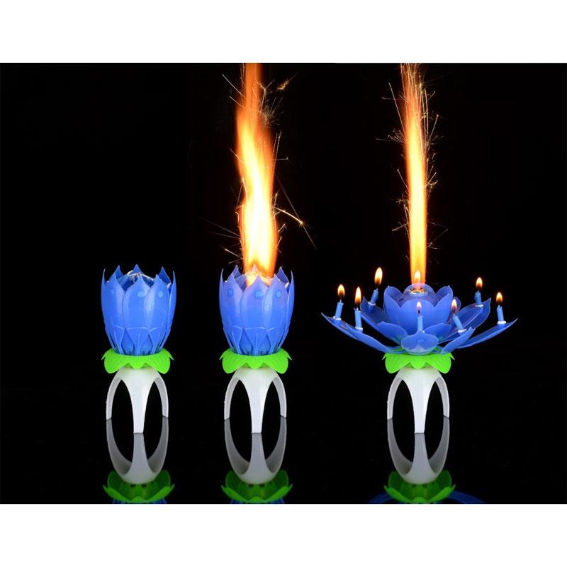 Birthday Achat Bleu Anniversaire Magique Vente Bougie nwk80PO