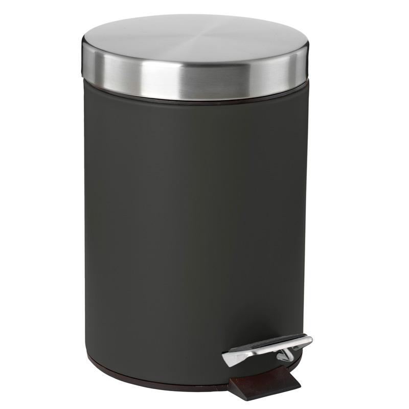 poubelle salle de bain soft touch noir - Poubelle Salle De Bain Noir