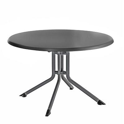 Table PLIANTE Aluminium Résine Ronde KETTLER 115 cm Anthracite ...