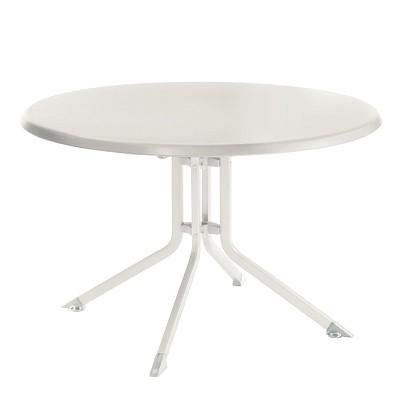 Table PLIANTE Aluminium Résine Ronde KETTLER 115 cm Blanc ...