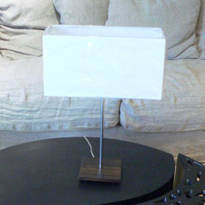 Lampe à Poser Design Inox Ebéne
