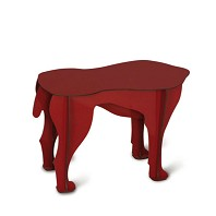 Table Basse Tabouret SULTAN Rouge Ibride