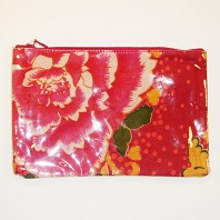 Trousse Jimmy Plastifiée Pivoine Rouge