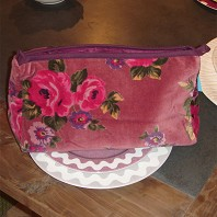 Trousse Cosmetic Velours Rose