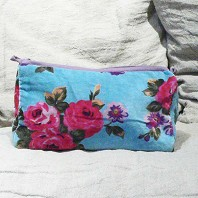 Trousse Cosmetic Velours Turquoise