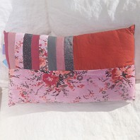 Coussin Patchwork Forest Rose Blush