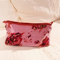 Trousse Cosmetic Velours Tally Rose Blush
