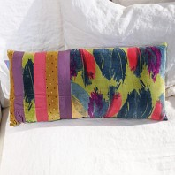 Coussin Strap PLUMES Anis