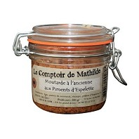 Moutarde à l'Ancienne Piment Espelette LE COMPTOIR DE MATHILDE