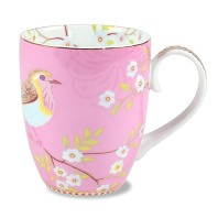 PIP Studio Grand Mug Floral Oiseau Rose