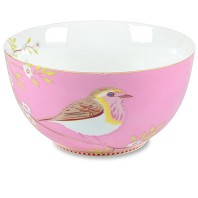 PIP Studio Grand Bol Floral Oiseau Rose