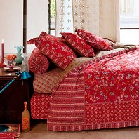 PIP Studio Housse Couette 200 x 200 cm + 2 Taies Chinese Blossom Rouge