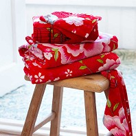 PIP Studio Serviette de Toilette Birds In Paradise Rouge