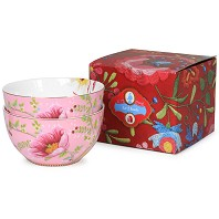 PIP Studio Coffret 2 Bols Chinese Garden Rose