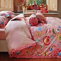PIP Studio Housse Couette 200 x 200 cm + 2 Taies Floral Fantasy Rose