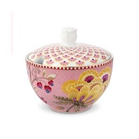 PIP Studio Collection Floral Fantasy Rose Blanc Pot à Cotons