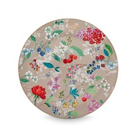 PIP Studio Assiette de Présentation 32 cm Hummingbirds Kaki Collection FLORAL2