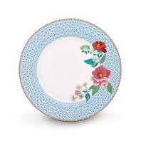 PIP Studio Assiette de Table 26,5 cm Bleu Collection FLORAL2