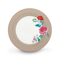 PIP Studio Assiette de Table 26,5 cm Kaki Collection FLORAL2