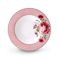 PIP Studio Assiette Creuse 21,5 cm Rose Collection FLORAL2