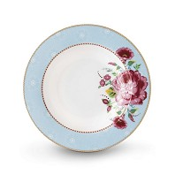 PIP Studio Assiette Creuse 21,5 cm Bleu Collection FLORAL2