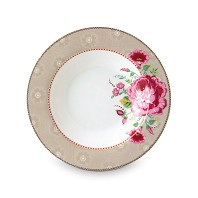 PIP Studio Assiette Creuse 21,5 cm Kaki Collection FLORAL2