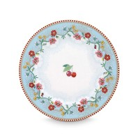 PIP Studio Assiette 17 cm Cherry Bleu Collection FLORAL2