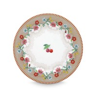 PIP Studio Assiette 17 cm Cherry Kaki Collection FLORAL2