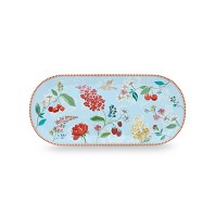 PIP Studio Plat à Cake Hummingbirds Bleu Collection FLORAL2
