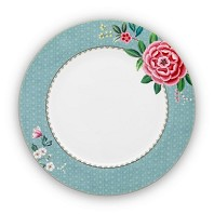 Pip Studio Assiette de Table 26,5 cm Bleu BLUSHING BIRDS