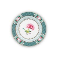 Pip Studio Assiette à Pain 17 cm Bleu BLUSHING BIRDS