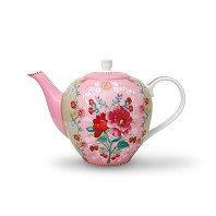 PIP Studio Théière 1.6L Rose Collection FLORAL2