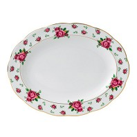 NEW COUNTRY ROSES WHITE Plat Ovale 33 cm ROYAL ALBERT