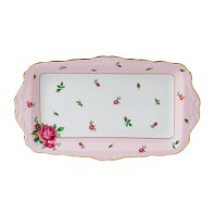 NEW COUNTRY ROSES Pink Plat Rectangulaire ROYAL ALBERT
