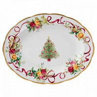 OLD COUNTRY ROSES CHRISTMAS Plat Ovale ROYAL ALBERT