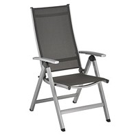 2 Fauteuils Multipositions Pliants EASY Argent Anthracite KETTLER
