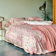 PIP Studio Housse Couette 200 x 200 cm + 2 Taies JAIPUR FLOWER PINK