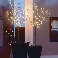 Set 2 Branches Arbre Illuminées 36 LED 90 cm Timer Function