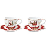CHRISTMAS MEMORIES Coffret 2 Tasses à Café EASY LIFE