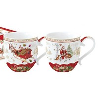 CHRISTMAS MEMORIES Coffret 2 Mugs EASY LIFE