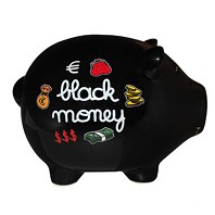 Tirelire Géante COCHON Black Money
