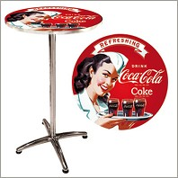 Table de Bar Design COCA COLA PIN UP