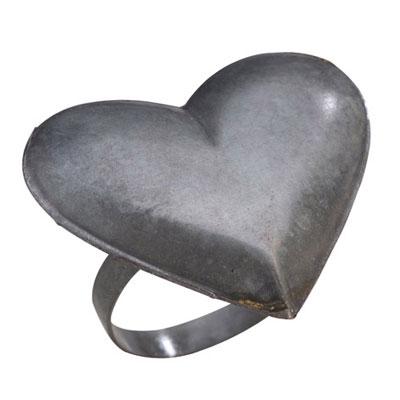 Rond de serviette Coeur pour 12€