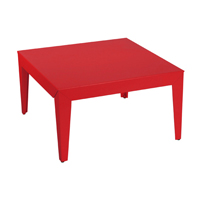 Table Basse Carrée ZEF Rouge Mat