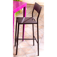 Chaise de bar UP Marron Mat