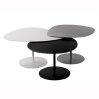 Table Basse 1 Galet Blanc